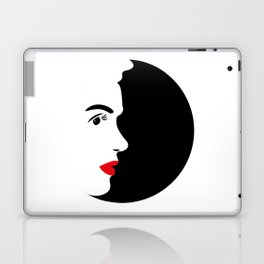 Profile of Marylin in Black and White Laptop & iPad Skin