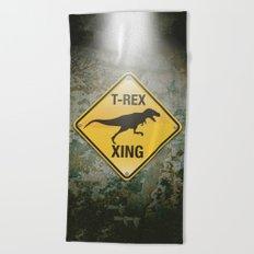 T-Rex Crossing Beach Towel
