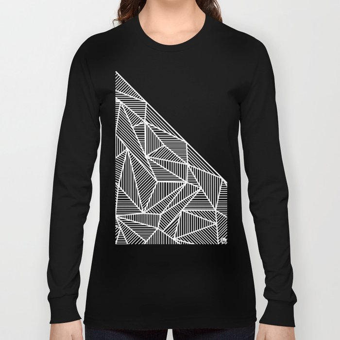 B Rays Geo BW Long Sleeve T-shirt