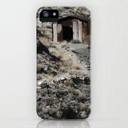 A lonely home in the hills. iPhone Case