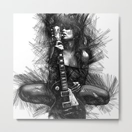 In Love with Music Metal Print