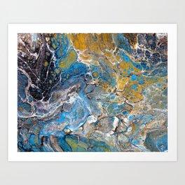 Mineralogy - Abstract Flow Acrylic Art Print