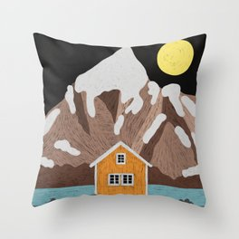 Somewhere in Iceland Throw Pillow