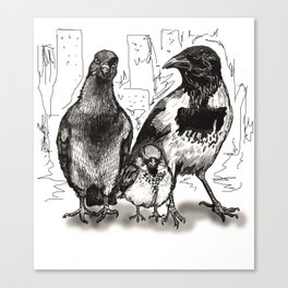 Urban Birds Canvas Print