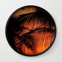 Hawaii Sunset in Big Island II Wall Clock