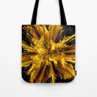 big bang Tote Bags featuring Big Bang by Art-Motiva