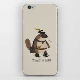 platypus in boots iPhone Skin