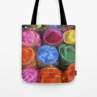 fez Tote Bags featuring Fez Hats Istanbul by Steve P Outram