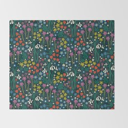Botanical Garden Throw Blanket