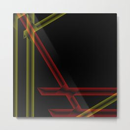 colored stripes on black background Metal Print