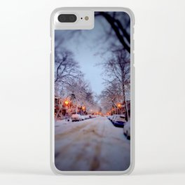 Winter scene Clear iPhone Case