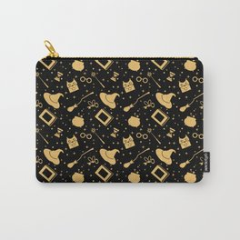 Magic symbols (black) Carry-All Pouch