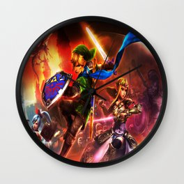 thcee fighter the legend of zelda Wall Clock