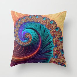 Bejewelled Spiral Throw Pillow