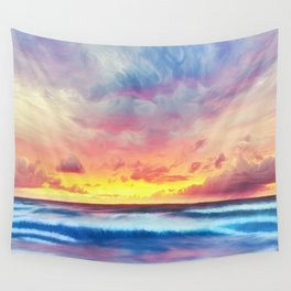 Lonas planet stormy evening Wall Tapestry