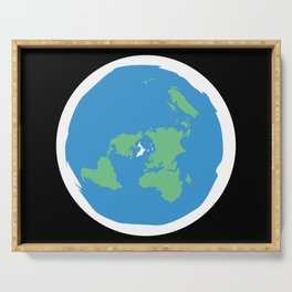 Flat Earth Ice Wall. - Gift Serving Tray