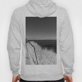 Sailing in the wind through the waves, Boat, Black and White photography #Society6 Hoody