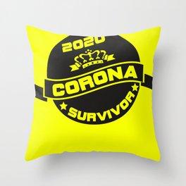 Pandemie Survivor Grungy Throw Pillow