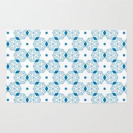 Shibori Stars (blue and white) Rug