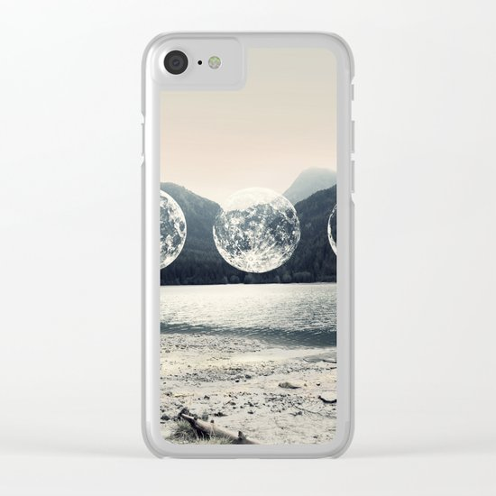 Moonlight Mountains Clear iPhone Case