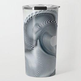 Silver Wave Travel Mug