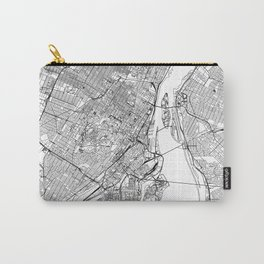 Montreal White Map Carry-All Pouch
