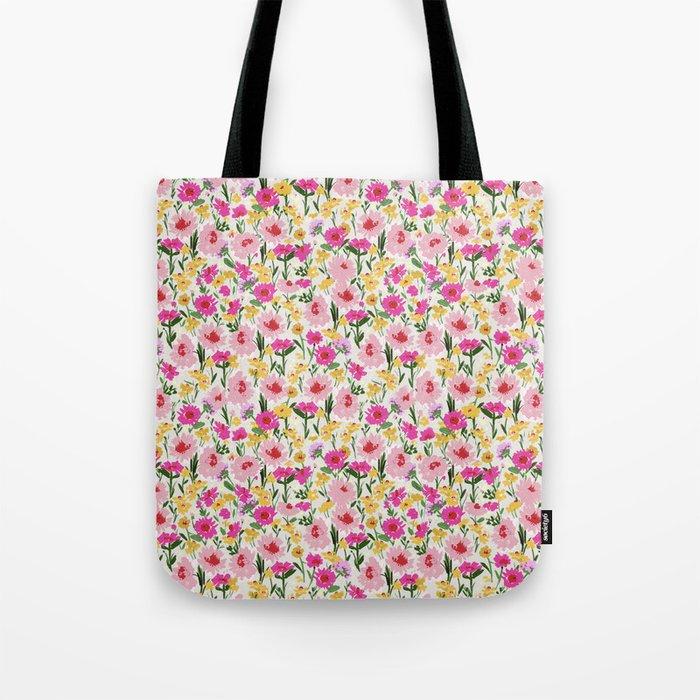 spring floral burst Tote Bag