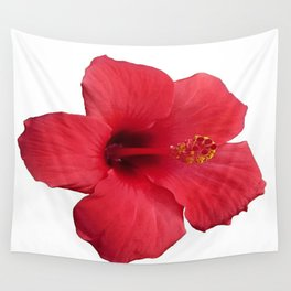 Stunning Red Hibiscus Flower Wall Tapestry