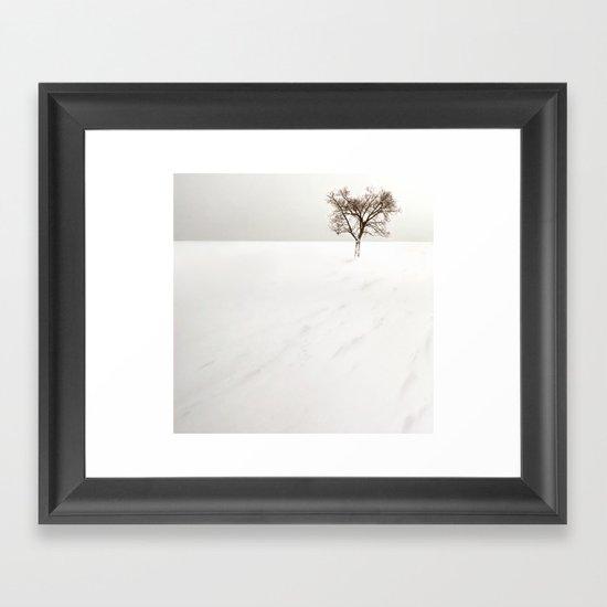 frozen lake. Framed Art Print