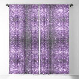 Beautiful Dark Purple glitter sparkles Sheer Curtain