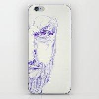kurt rahn iPhone & iPod Skins featuring Kurt by Raumzucker