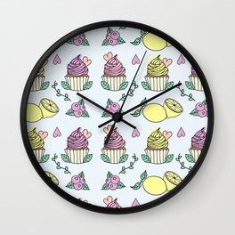 Time For Cupcakes! Wall Clock