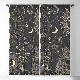 Mystic patterns Blackout Curtain