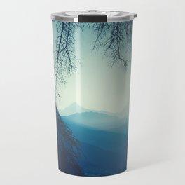 blue mountains morning - vertical tapestry Travel Mug