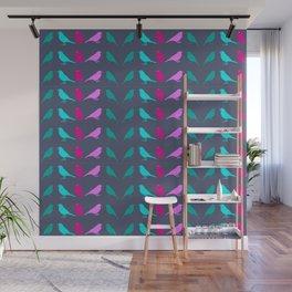 Funky Bird Chats Wall Mural