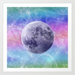 Moon Vortex Art Print