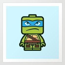 Chibi Leonardo Ninja Turtle Art Print