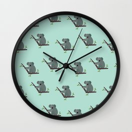 Koalas all around Wall Clock