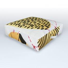 Honey Orbs Outdoor Floor Cushion