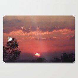 Sweet Pink Orange Sunset Cutting Board