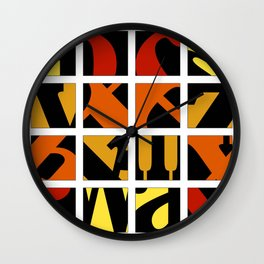 Warm Alpha Wall Clock