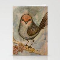 luigi Stationery Cards featuring Luigi bird by Sam Wallis Illustration