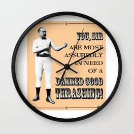 Retro Pugilist – Damned Good Thrashing Wall Clock