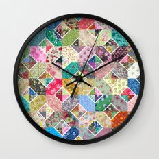 Betty's Diamond Quilt Wall Clock
