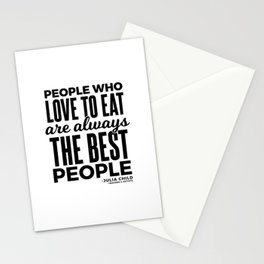 The Best People (Black) Stationery Cards