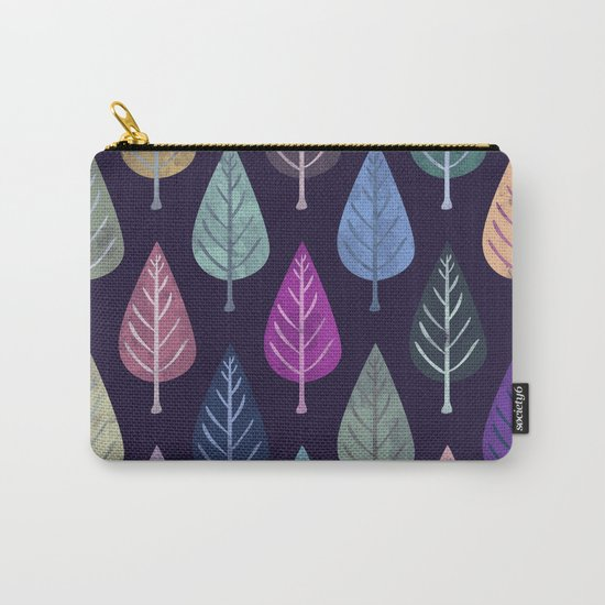 Watercolor Forest Pattern IV Carry-All Pouch