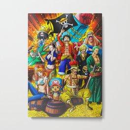 Anime Onepiece Metal Print