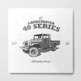 FJ45/HJ47 Landcruiser Truck/Ute - Still Going Strong Metal Print