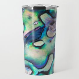 Purpley Green Mother of Pearl Abalone Shell Travel Mug