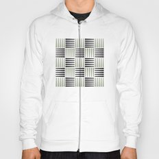 B/W crosshatch pattern Hoody